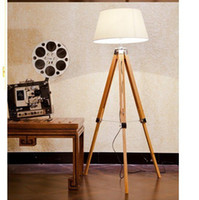 bamboo wooden floor - New Style Europe Quality Luxury Wooden Bamboo Tripod Floor Lamps Lamp Lights Lighting for Bedroom Living Room