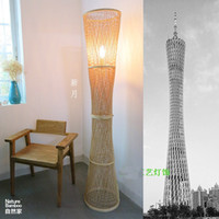 bamboo engineered flooring - IKEA lamp lighting engineering and creative personality bedside lamp bedroom garden rattan floor lamp Southeast Asian Bamboo Lam
