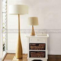 ash wood logs - Ash natural eco friendly modern brief wooden wood floor lamp log wool lamp