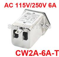 ac panel mount power socket - CW2A A T AC V V A Single Phase Panel Mount Soldering Lug Terminal IEC Socket Power Line EMI Filter Purifier