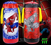 venda por atacado boxing gloves and bag-Atacado de alta qualidade para crianças Crianças de treinamento de MMA Aranha Boxe Saco de suspensão do pontapé Muay Thai perfuração Saco de Areia Com luvas de boxe Saco Boxeo