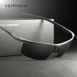 Wholesale Aluminum Magnesium Polarized Mens Sunglasses Sports Men Coating Mirror Driving Sun Glasses oculos Male Eyewear Veithdia