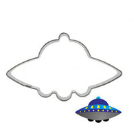 aircraft cutting tools - Alien spacecraft flying saucer UFO timeship aircraft cookies mold cookie cutter DIY hand baking tools metal fruit cutting die