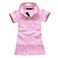 Wholesale Children Dress y New Spring Summer Baby Infant Girls Brand Polo Dress children kids Princess tennis One piece Dresses