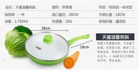 Wholesale cm Ceramic Pan Non Stick Frying Pan Smoke Free NO Pot Cover Ceramic Frying Pan