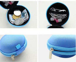 Wholesale 1pc mini Portable Pocket Hard Case Storage Bag For Earphone SD TF Card coin purse Candy Colors
