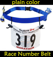 Wholesale Sports Gear Base Race Number Belt Plain Race Bibs Holder Belt Running Belt colors Black amp Blue DHL FREE