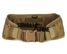 Wholesale ROGISI New Style High Quality D CORDURA Molle Outdoor Men s Tactical Waist Padded Belt Coyote Brown Bk
