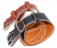 Wholesale Free Shiping Professional Weight lifting leather belt fitness weightlifting belt gym equipment waist protector Lumbar Support