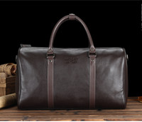 Wholesale new arrival Classic designer cowhide genuine leather men travel bag carry on luggage weekend duffel sports bag keepall bags