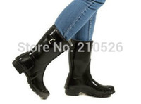 ankle high wellies - H High quality fashion Original Brand Mid calf short rain boots low heels waterproof welly boots rainboots water shoes