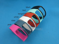 Wholesale Slate color NEW colors Gear fit band replacement band for samsung Gear fit smartband with metal Freeshipping