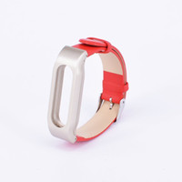 adjustable replacement leather strap - Replacement Genuine Leather Miband Bracelet Wrist Strap for Mi Band Smart Watch Unisex Adjustable Wrist Band Strap For Xiaomi