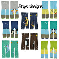 Wholesale Spring and autumn Skinny baby pants cartoon design infant leggings knitted leggings for toddler girls and boys baby cotton pants