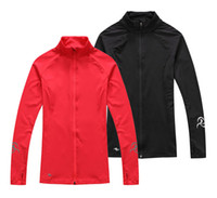 athletic outerwear - New Quality Fashion Women Running Jackets Yoga Long Sleeves Outerwear Stretchy Athletic Tracksuits T77DT10