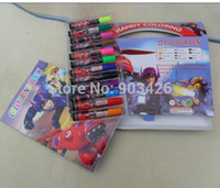 Wholesale Lovely Big Hero Baymax Drawing Toy Set Colors Pens Stationery Set G127