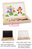animals magnetism - learning amp education children toys wooden drawing toys puzzle Jigsaw Animal magnetism multi sided drawing board doodle