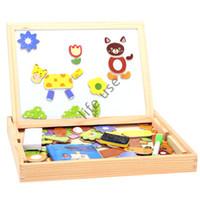 animals magnetism - Children Fantastic Wooden Animal Magnetism Easel Doodle Drawing Board Jigsaw B
