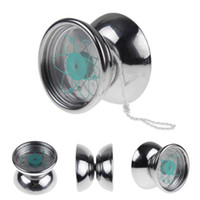 Wholesale Best New Professional YoYo Ball Bearing String Trick Stainless Steel Kids Toys Silvery Quality