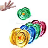 Precio de Bolas de rodamiento-A25 2015 caliente-venta de nuevo diseño caliente yoyo de aluminio profesional de la bola de cojinete de la aleación de cadena truco de los niños envío libre