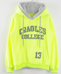 Wholesale-2015 Sweatshirts With Hat Sports Unique Stripe Autumn Words Best Pullovers Fashion Print Cotton Fleece Hoodies Tops Women Hoody