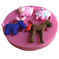 bar sheep - Horse Cow Pig Sheep Shape Silicone D Mold Cookware Dining Bar Non Stick Cake Decorating Fondant Soap Mold C167