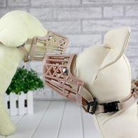 basket muzzle - New Plastic Dogs Muzzle Basket Design Sizes Anti biting Adjusting Straps Mask High Quality