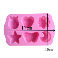 animal shaped cake pans - 1PCS Lotus Moon StSar And Animal Shape Muffin Sweet Candy Jelly fondant Cake chocolate Mold Silicone tool Baking Pan B144