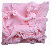 art plays - 2 quot Fairy Flowers Play with Butterfly Craft Art Silicone Soap mold Craft Molds DIY