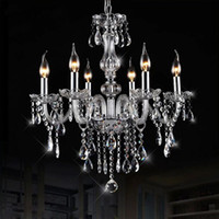 hand blown art glass - Clear Hand Blown Luxurious K9 Crystal Chandelier Light Crystal Lustre Pendant Lamp Euro Style Lighting Home Hotel Wedding Decor