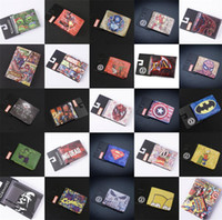 Wholesale COMICS DC MARVEL THE AVENGERS HULK IRON MAN THOR CAPTAIN AMERICA SUPERMAN PURSE LOGO CREDIT OYSTER LICENSE CARD HOLDER WALLET