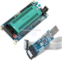 Wholesale A25 Newest set ATMEL For ATMEGA16 ATmega32 AVR Minimum System Board USB ISP USBasp Programme