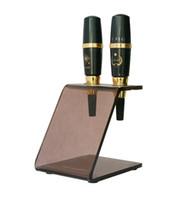 acrylic shelves - 2Pcs Acrylic Permanent Makeup Machine Pen Shelves Holder For Tattoo Gun Needle Ink Tips Grips Kits