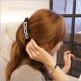 Wholesale new arrival high quality fashion barrettes for women designer banana hairpins girl s crystal hairgrips female hair