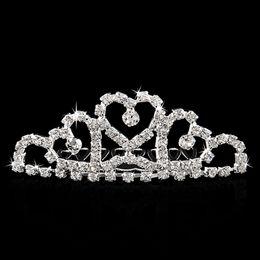 Wholesale-Mini Twinkle Rhinestone Diamante Bridal Princess Crown Hair Comb Hair Clip Tuck Tiara Party Wedding