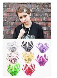Wholesale Fashion Hair Accessories Skeleton Claws Skull Hand Hair Clip Hairpin Zombie Punk Horror Bobby Pin Barrettes For Women hair clip