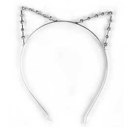 Canada Gros-Nouvellement DesignFashion Mignon Accessoire Cosplay Party Punk strass Crystal Cat Ear Hair Band Headband Sweet Girl Women supplier cute cosplay girl Offre