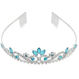 Wholesale New Bridal Sky Blue Crystal Rhinestone Wedding Headband Tiara Hair Accessory