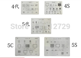 Wholesale-7pcs lot BGA reballing Solder template stencil BGA IC Chipset for iphone 4 4s 5 5s 5c 6 6-plus