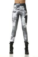 Wholesale New Leggings For Women Digital Printing Clouds Gray Leggings Elastic supernova sale Pants