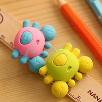 Wholesale Creative Cute Crab Eraser Office School Correction Supplies Removable Eraser