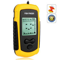 angle transducer - Ulincos US08 Portable Sonar Echo Sounder Fish Finder m Depth Alarm Transducer Fishfinder with m Cable degree Beam Angle
