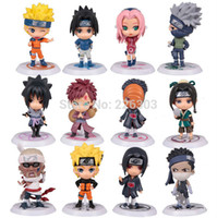 Wholesale Full Set Q Edition Naruto Anime Action Figures Collection PVC quot Naruto Figures Model toy Set