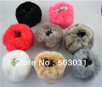 Wholesale pair Women Winter Faux Fur Oversleeve Hand Muff Wrist Arm Warmer Cuff Cover Fuzzy Furry Wristband