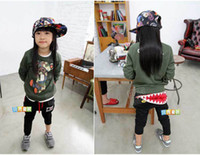 Wholesale hot baby harem pants kids casual Mouth teeth cotton girls harem pant children cargo pants for boy amp girls Y