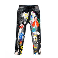 Wholesale Cowboy Style Digital Printing Kids Cotton Pants Baby Cartoon Jeans Pattern Leggings For Beautiful Girl Children Trousers