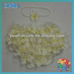 Wholesale Lovely Cream Flower Petals Baby Bloomers Diaper Cover Matching Headband Set Baby Bloomers Wholesale60sets