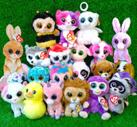 big monkey plush - Ty beanie boos plush toy doll Rabbit Dog monkey Elephant so much styles set big eyes animals soft