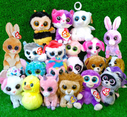 Wholesale Ty beanie boos plush toy doll Rabbit Dog monkey Elephant so much styles set big eyes animals soft