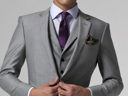 Discount Grey Purple Wedding Suits For Men | 2017 Grey Purple ...